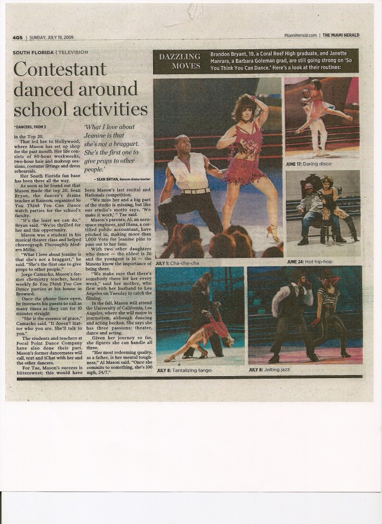 So You Think You Can Dance Miami Herald Lynette Zilio 2